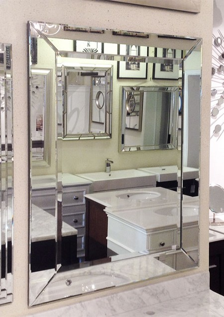 Mirror with Mirrored Frame 30
