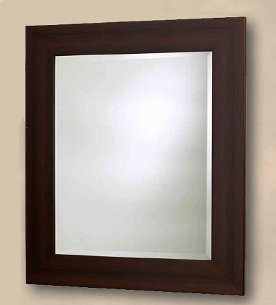 Beveled Mirror in Espresso Finish, 31