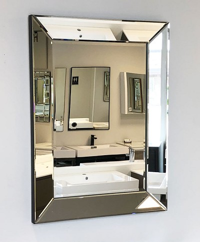 Mirror with Mirrored Frame 32